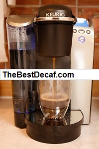decaf k-cups in Keurig Coffee Machine